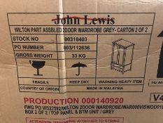 JOHN LEWIS WILTON 2 DOOR WARDROBE