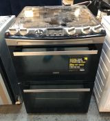 ZANUSSI 60CM DOUBLE ELECTRIC OVEN WITH INDUCTION HOB - ZCI66278XA / RRP £679.99 / CONDITION
