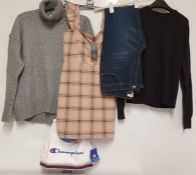 ONE LOT TO CONTAIN ONE BAG OF MIXED LADIES CLOTHING - 12 ITEMS (ASSORTED SIZES AND COLOURS, CUSTOMER