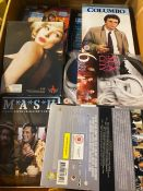 1 X TOTE TO CONTAIN ASSORTED DVDS LIKE THE WEST WING AND ASSORTED MUSIC CDS - APPROX 50