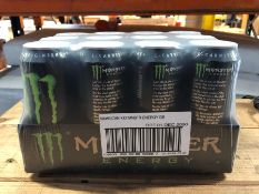 2 X 12 500ML CANS OF MONSTER ENERGY DRINKS / BBE 31 DEC 2020