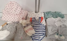 ONE LOT TO CONTAIN ONE BAG OF MIXED BABY / CHILDRENS CLOTHES - APPROX 25 ITEMS. (ASSORTED SIZES