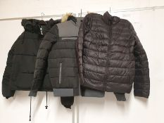 ONE LOT TO CONTAIN ONE BAG OF MIXED LADIES COATS / JACKETS - 8 ITEMS. (ASSORTED SIZES AND COLOURS,