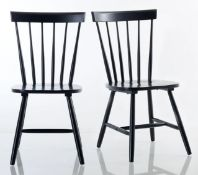 JIMI SOLID WOOD BAR-BACK CHAIRS (SET OF 2) / GRADE B GENERAL WEAR AND TEAR / RRP £180.00