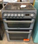 HOTPOINT ULTIMA 60CM DUAL FUEL COOKER - HUD61GS / RRP £439.00 / CONDITION REPORT: UNTESTED