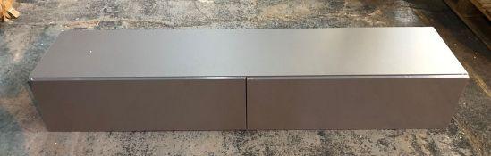 VIGO 180 2-DOOR WALL HANGING TV UNIT - GREY