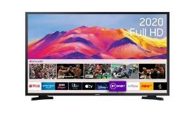 """SAMSUNG 32"""" SMART FULL HD HDR LED TV - UE32T5300AK / RRP £249.00 / CONDITION REPORT: BOXED"""