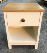 1 X BEDSIDE TABLE - WHITE