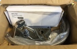 ROUND BASIN AND BATH SPILL SPOUT SET / LOOKS LIKE NEW