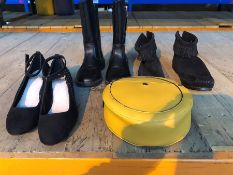 1 LOT TO CONTAIN 3 PAIRS OF SHOES AND A HANDBAG, GRADES A-C