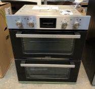 ZANUSSI DOUBLE ELECTRIC OVEN - ZOF35661XK / RRP £449.00 / CONDITION REPORT: UNTESTED CUSTOMER