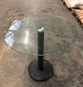 HOUSE BY JOHN LEWIS ENZO 2 SEATER GLASS ROUND DINING TABLE