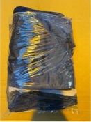 ONE LOT TO CONTAIN DARK BLUE VELVET BEDFRAME COVER ( THESES ARE TO COVER THE FOOTBOARD AND SIDE