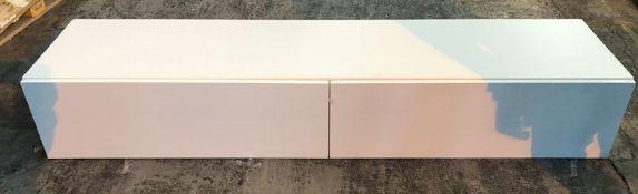 VIGO 180 2-DOOR WALL HANGING TV UNIT - WHITE