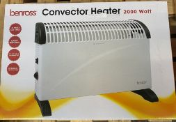 ONE LOT TO CONTAIN A BENROSS CONVECTOR HEATER RRP £20.00 (CUSTOMER RETURNS UNTESTED BY DMR)