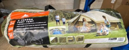 ONE LOT TO CONTAIN A 8 PERSON TENT (UNTESTED CUSTOMER RETURNS)