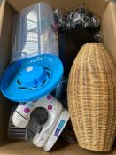 ONE LOT TO CONTAIN AN ASSORTMENT OF GOODS TO INCLUDE A DVD PLAYER AND SOLAR POWERED LIGHTS (CUSTOMER
