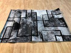 ALAYA BLACK/GREY RUG / SIZE: 140 X 200CM BY ZIPCODE DESIGN