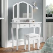 AMANI LARGE DRESSING TABLE SET WITH MIRROR BY LILY MANOR
