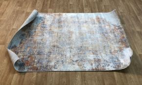 TIVOLI TRAFALGAR ABSTRACT BLUE RUG / SIZE: 120 X 180CM BY WELL WOVEN