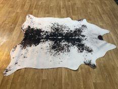 RUNDLE COWHIDE BLACK/WHITE RUG BY BLOOMSBURY MARKET