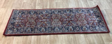 HOLBEACH RED RUNNER RUG / SIZE: 61 X 183CM BY WORLD MENAGERIE