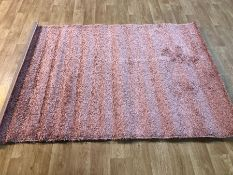 EPPERSON SHAG PINK RUG / SIZE: 140 X 220CM BY ROSDORF PARK