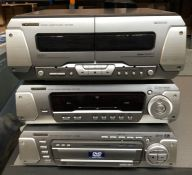 3 X TECHNICS ELECTRONIC PRODUCTS / INCLUDING: 1 X CD/DVD PLAYER, 1 X STEREO SYSTEM AND 1 X