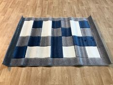 ARMBRUSTER MT04 GREY/NAVY RUG / SIZE: 120 X 170CM BY EBERN DESIGNS