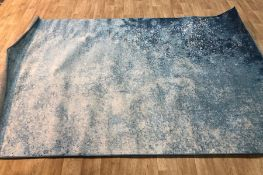 PASSION TUFTED NAVY LIGHT BLUE RUG / SIZE: 200 X 290 BY LONGWEAVE