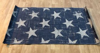 RIDLEY STARS DENIM BLUE/WHITE RUG / SIZE: 80 X 150CM BY 17 STORIES