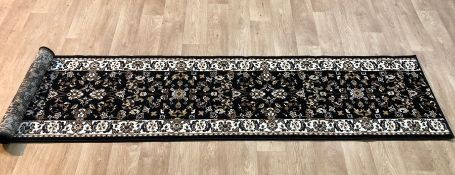 BALLENTON TUFTED BLACK HALLWAY RUNNER RUG / SIZE: 60 X 270CM BY CLASSICLIVING