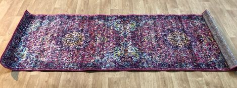 BARKSDALE BLOOMING PINK AREA RUNNER RUG / SIZE: 80 X 245CM BY LATITUDE VIVE