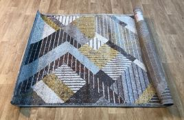SYDNEY JACEY GREY/BLACK/WHITE RUG / SIZE: 120 X 160CM BY WELL WOVEN