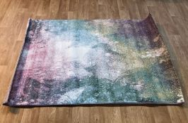 SERPA SHAG PINK/BLUE/YELLOW RUG / SIZE: 120 X 170CM BY 17 STORIES