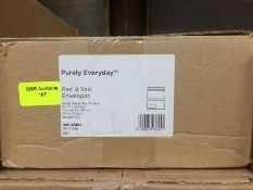 1 LOT TO CONTAIN A BOX OF PURELY EVERYDAY WALLET PEEL AND SEAL WINDOW ENVELOPES IN WHITE 110 X 220MM