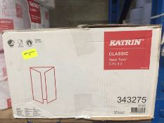 1 LOT TO CONTAIN A BOX OF KATRIN CLASSIC HAND TOWEL C-FOLD 2 - L7