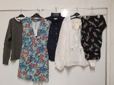 ONE LOT TO CONTAIN ONE BAG OF MIXED LADIES CLOTHING - APPROX 15 ITEMS. (ASSORTED SIZES AND
