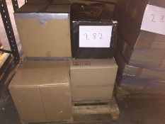1 X BULK PALLET TO CONTAIN 4 ASSORTED FILING CABINETS, SIZES AND COLOURS VARY - L7