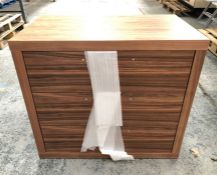 3-DRAWER CHEST IN WALNUT / SIZE: 850 X 500 X 750MM / LIKE NEW