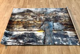 RYAN TURQUOISE/YELLOW RUG / SIZE: 120 X 170CM BY BOROUGH WHARF
