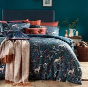 COLFAX BRUSHED COTTON DUVET COVER SET / SIZE: KING