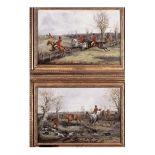 PAIR OF HUNTING SCENES, 19TH CENTURY BY HENRY THOMAS ALKEN FRAMED ART PRINT