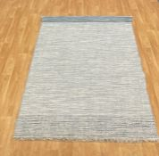 LA REDOUTE TWEED BLUE/GREY THINK RUG (160X230CM)