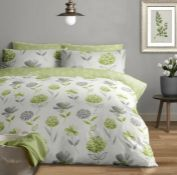 HALLWOOD 180 TC BRUSHED COTTON DUVET COVER SET / SIZE: KING