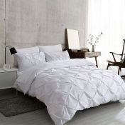 AMIRREZA 136 TC DUVET COVER SET / COLOUR: WHITE, SIZE: DOUBLE - 2 PILLOWCASES