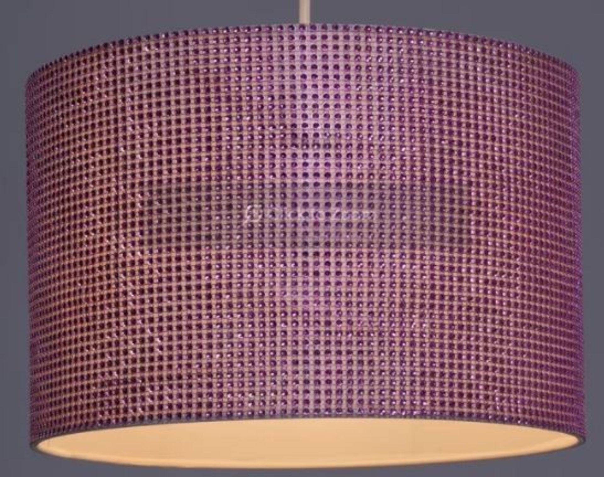 GLITZY 30CM DRUM LAMP SHADE