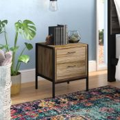 ALAMO 2 DRAWER BEDSIDE TABLE