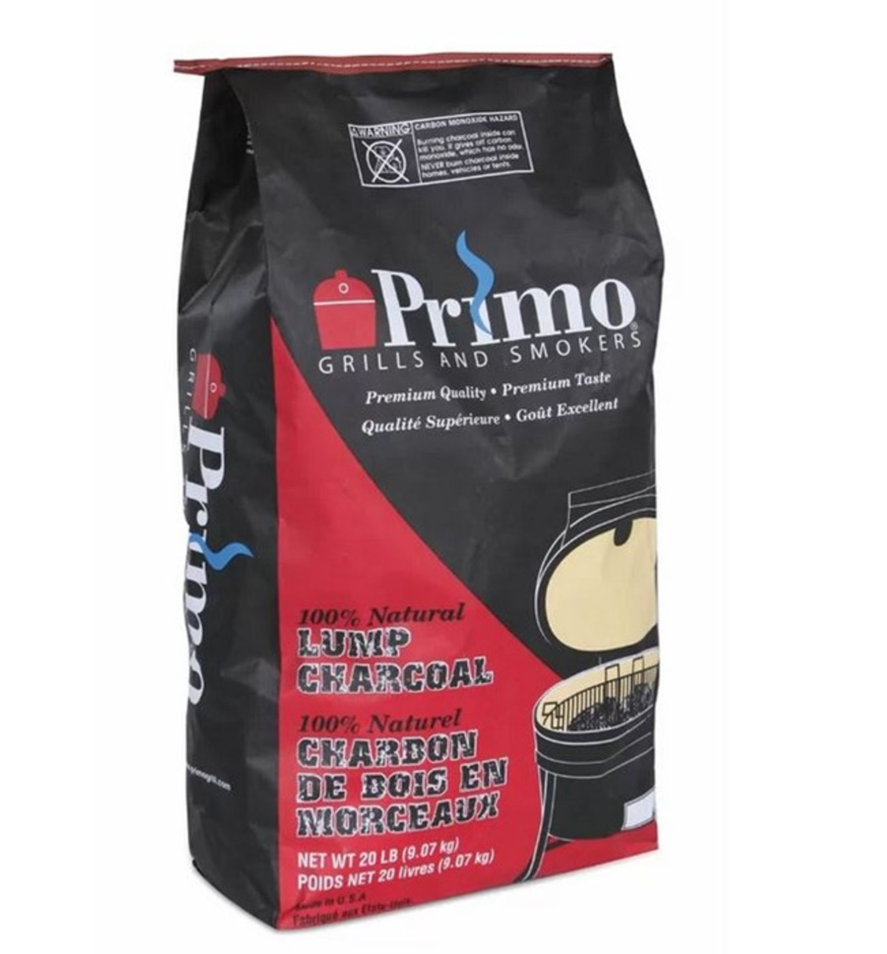 NATURAL LUMP WOOD CHARCOAL BY PRIMO