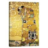 THE EMBRACE STOCLET FRIEZE PANEL 1905-11 BY GUSTAV KLIMT - WRAPPED CANVAS GRAPHIC ART PRINT